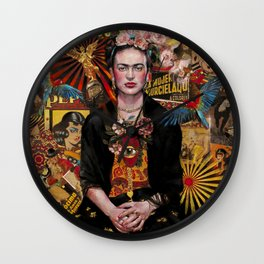 Fiesta de Frida Kahlo Wall Clock