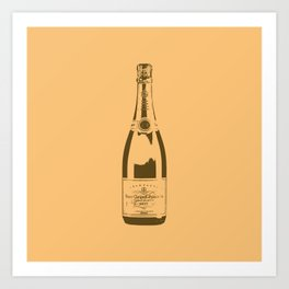 Veuve Champagne Bottle Pop Art Art Print