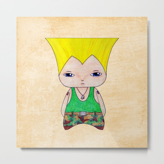 A Boy - Guile Metal Print