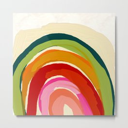 my personal rainbow abstract art Metal Print
