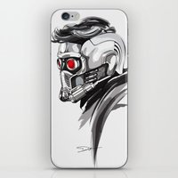 star lord iPhone & iPod Skins featuring Star Lord by Dik Low