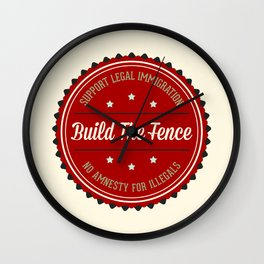 Build The Fence Wall Clock