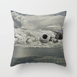 Stormy approach Throw Pillow