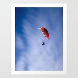 Motorized Paragliding Art Print
