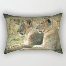 Lion Cub Twins Rectangular Pillow
