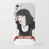 mia wallace iPhone & iPod Cases featuring Pulp Fiction's Mia Wallace by raeuberstochter