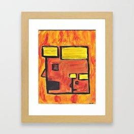 2 Faced Framed Art Print