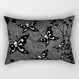 Skullerflies in the garden - dark scale Rectangular Pillow