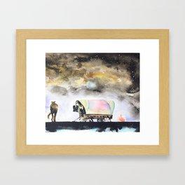 Rising stars above Framed Art Print