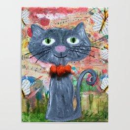 curious kitten Poster