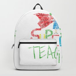School Teachers Are Superheroes Distressed product Backpack