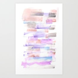 170527 Back to Basic Pastel Watercolour 2 |Modern Watercolor Art | Abstract Watercolors Art Print