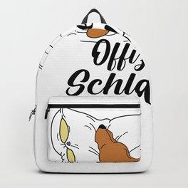 Dackel Dackelhund Offizielles Schlafshirt Retro Geschenk T-Shirt Backpack