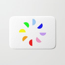 Chromatic circles Bath Mat