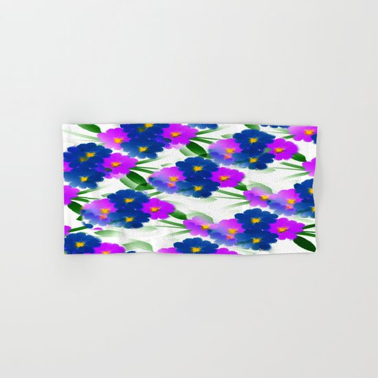 Abundance Of Painted Flowers Hand & Bath Towel