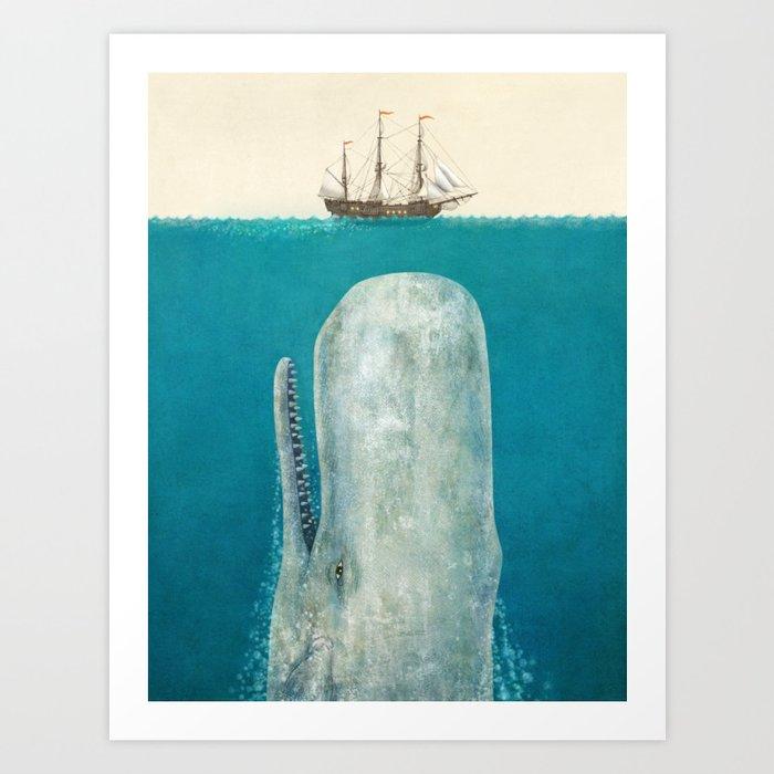 The Whale - option Art Print