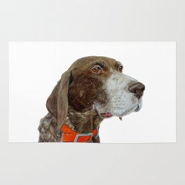 Anja the German Shorthair Pointer Rug