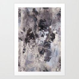 Monochrome Chaos Art Print