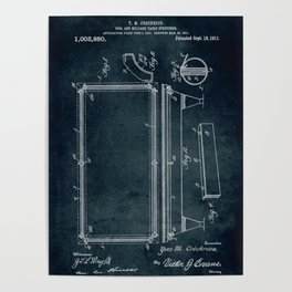 1911 - Pool and billar table stretcher Poster