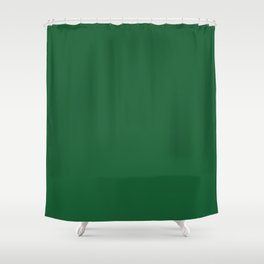 Green Bay Football Team Green Solid Mix and Match Colors Shower Curtain