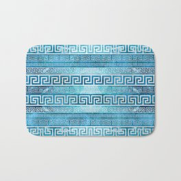Greek Meander Pattern - Greek Key Ornament Bath Mat