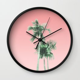 Palm Trees, Sun and Sky Wall Clock