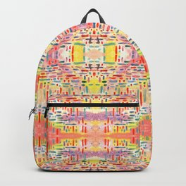 Almost Gingham Check Watercolor Abstract Pattern - Yellow & Orange Backpack