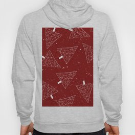 Christmas Trees Red Hoody