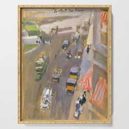 Fifth Avenue, New York by Joaquin Sorolla Serving Tray