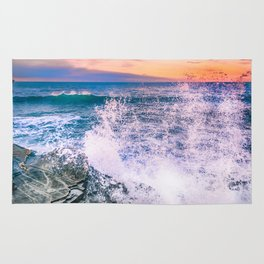 Surf Atlantic Rocky Coast Rug