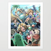 final fantasy Art Prints featuring Final Fantasy Fanfare by StillWater