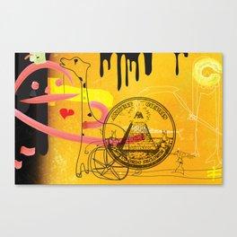 Handicapped Giraffe Canvas Print