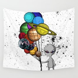 Casual Alien Wall Tapestry