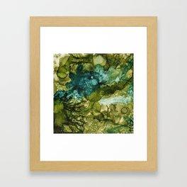 Green splash Framed Art Print
