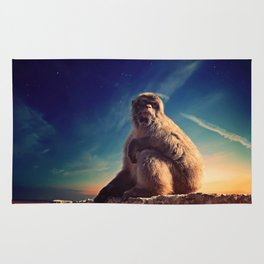 Daydreaming Macaque Rug