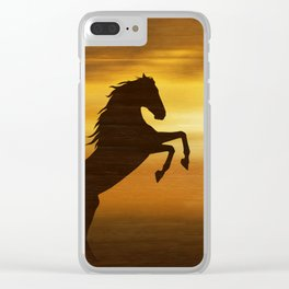 The wild mustang Clear iPhone Case