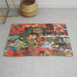 Red hens and many others and more..... Rug