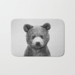 Baby Bear - Black & White Bath Mat