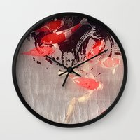 asian Wall Clocks featuring Asian Lake by Eva Nev