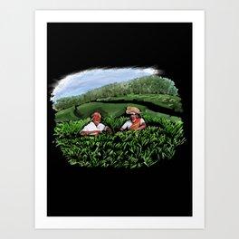 99 - Kerala tea estates… Art Print
