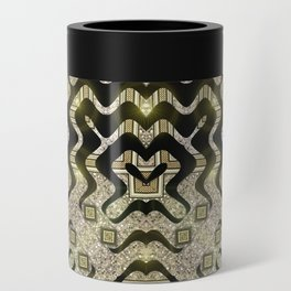 Tribal Gold Glam Can Cooler