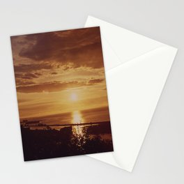 SUNSET AT THE MOUTH OF THE COLUMBIA RIVER BETWEEN ASTORIA OREGON AND THE STATE OF WASHINGTON NARA Stationery Cards