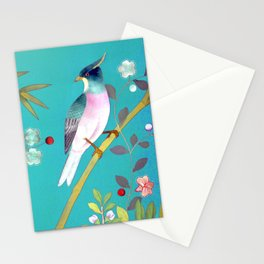 chinois 1731: turquoise Stationery Cards