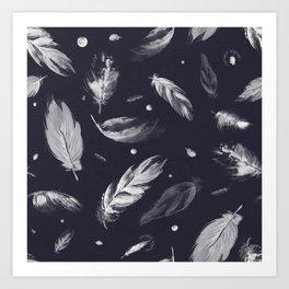 Sumi Feather Pattern Art Print
