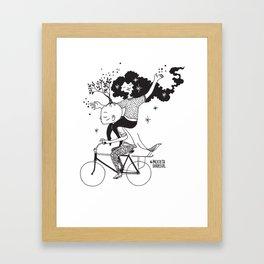 Espalhando Amor - Bicicleta Girassol Framed Art Print