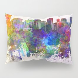 Richmond skyline in watercolor background Pillow Sham