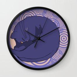 Sleeping MoonCat Wall Clock
