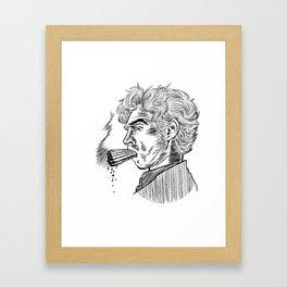 London Smoking Habit (Lineart) Framed Art Print