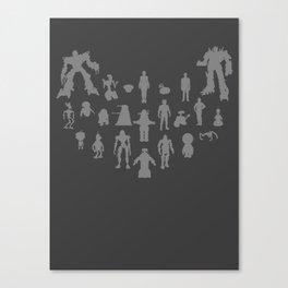 Robots - Various Canvas Print