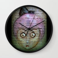writer Wall Clocks featuring Ghost Writer by Terrestre